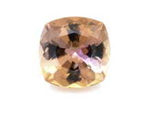 I16 Fancy Orange yell pink Zoisite 10 1mm sq cushion 4 37cts ISX