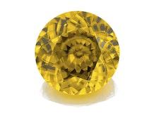 I16e 163 Yellow Zircon 17mm Rnd 24 56cts RUA