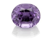 J191 001 Purple Tajiki Spinel 9.3x7 9 Oval 3.39cts AAS
