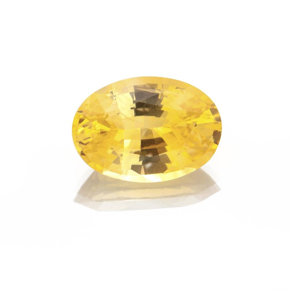L117 006 Yellow Sapphire 9 4x6 6 Oval 2 02cts MAS