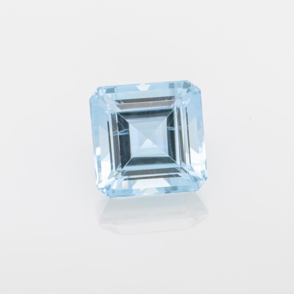 M124 029 Aqua 7mm sq ec 1 70cts TEZ